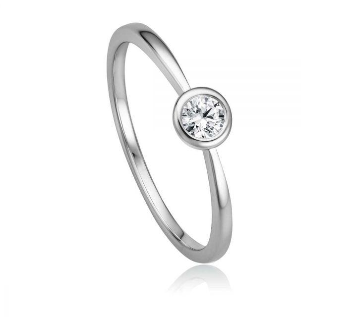 Ring Solitaire WG B108745-1-017ct