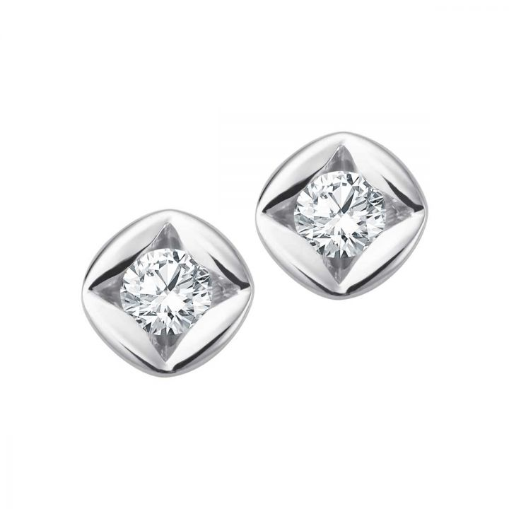 Stud Earrings Solitaire